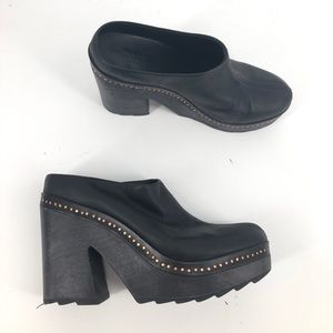 Rag and Bone leather mules / clogs 41 / 11